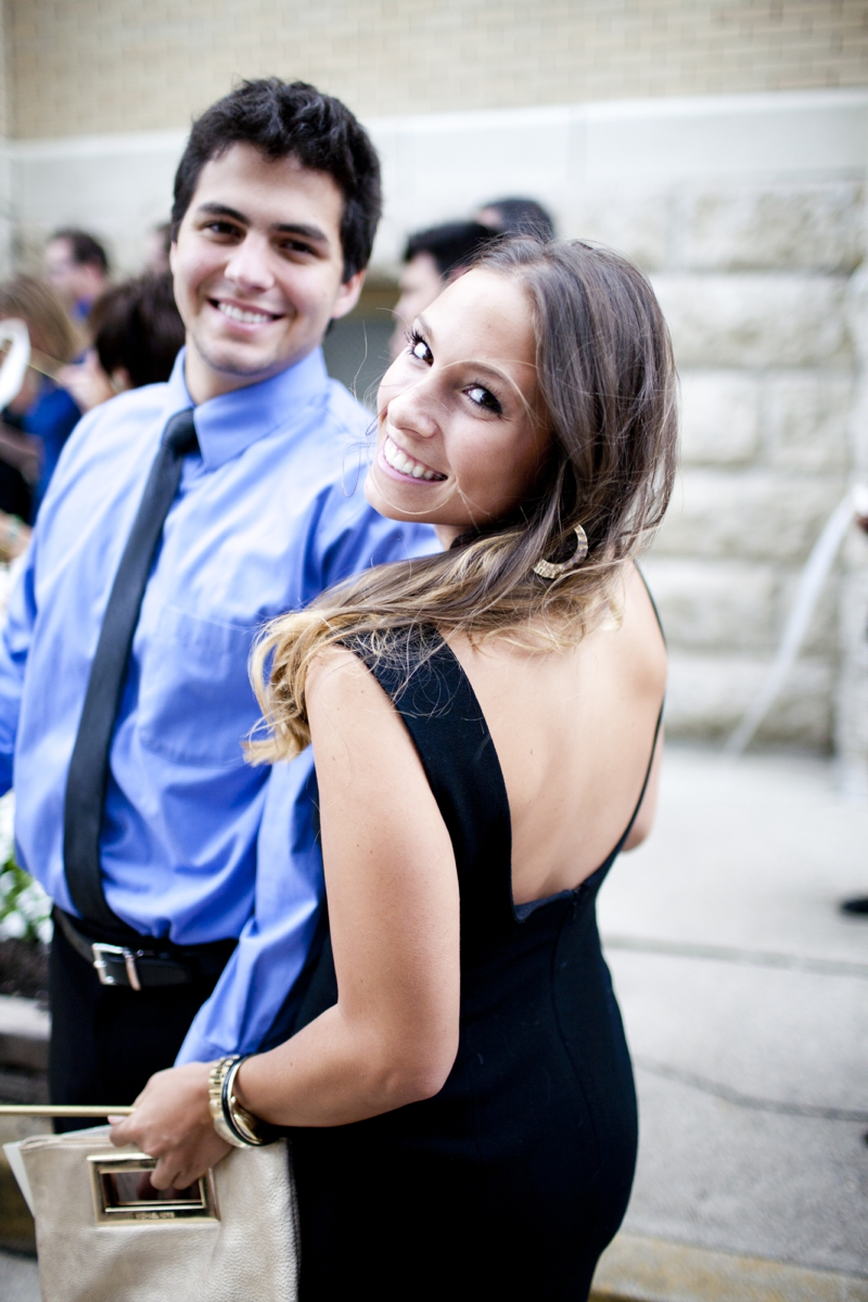 My cousin Mario with his (also Italian) girlfriend Alexa, simply stunning! Also wearing a vintage dress her Grandma gave her.