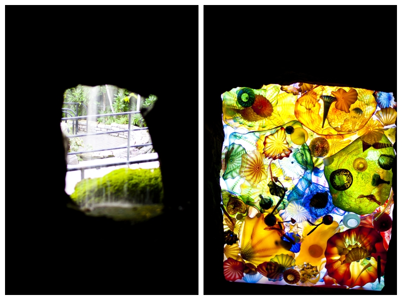 Some more Chihuly glass on the ceiling in a cave in the Mountain Room.. and this little window, well this was the BEST for spying on people when I was little and came here!
