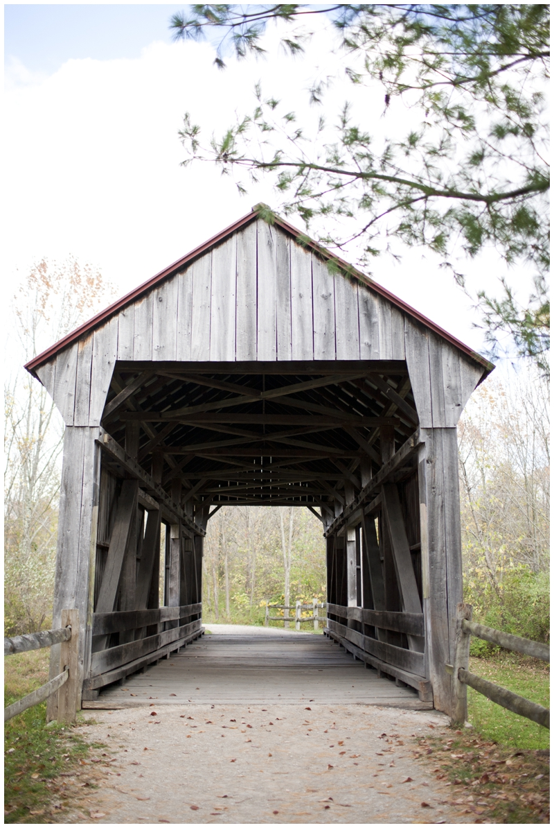 The covered bridge in the park, very cool!