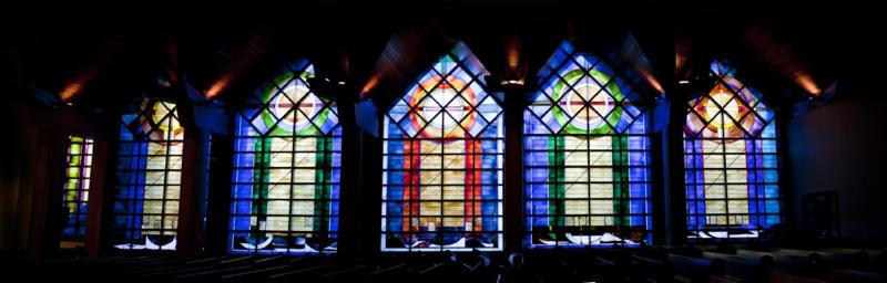 Bonuspanoramaof the windows inside the Parish!!!