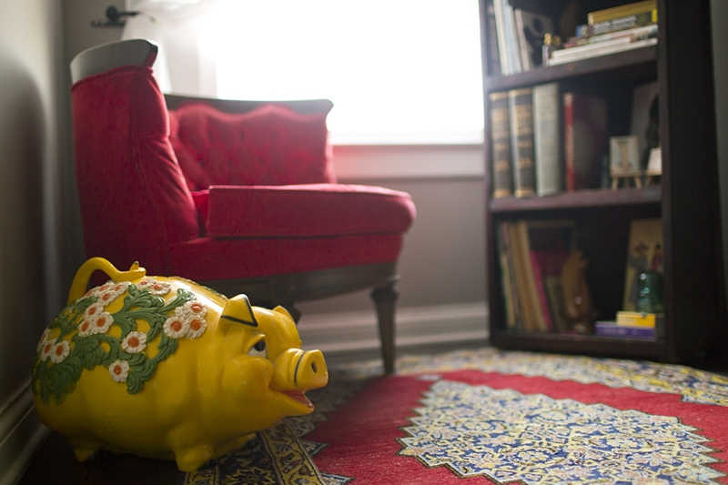 In case you wondering, I have had this Piggy since I was three. I use it today to store all of my pennies :)