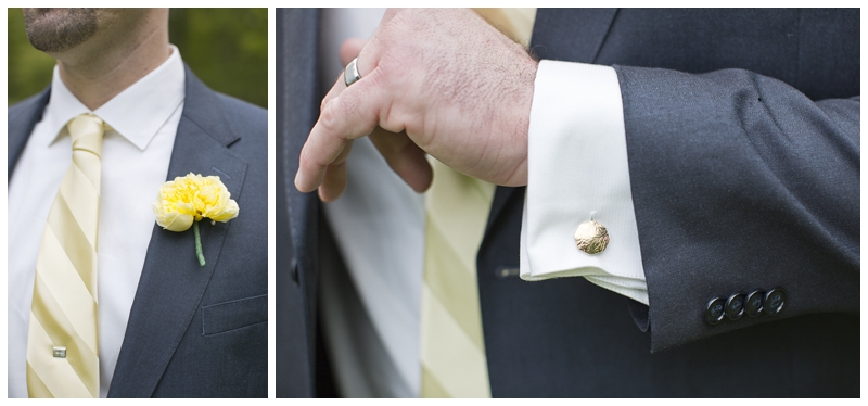 Cufflinks and tie pin from his grandpa.
