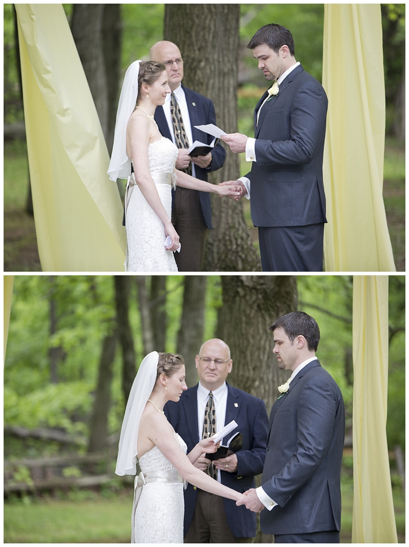 Their vows were so heartfelt and powerful, they almost had me welling up.