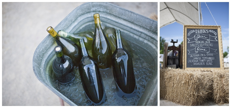 Ivan's family is in the brewing business, so naturally, him and Julie made all their own wine.