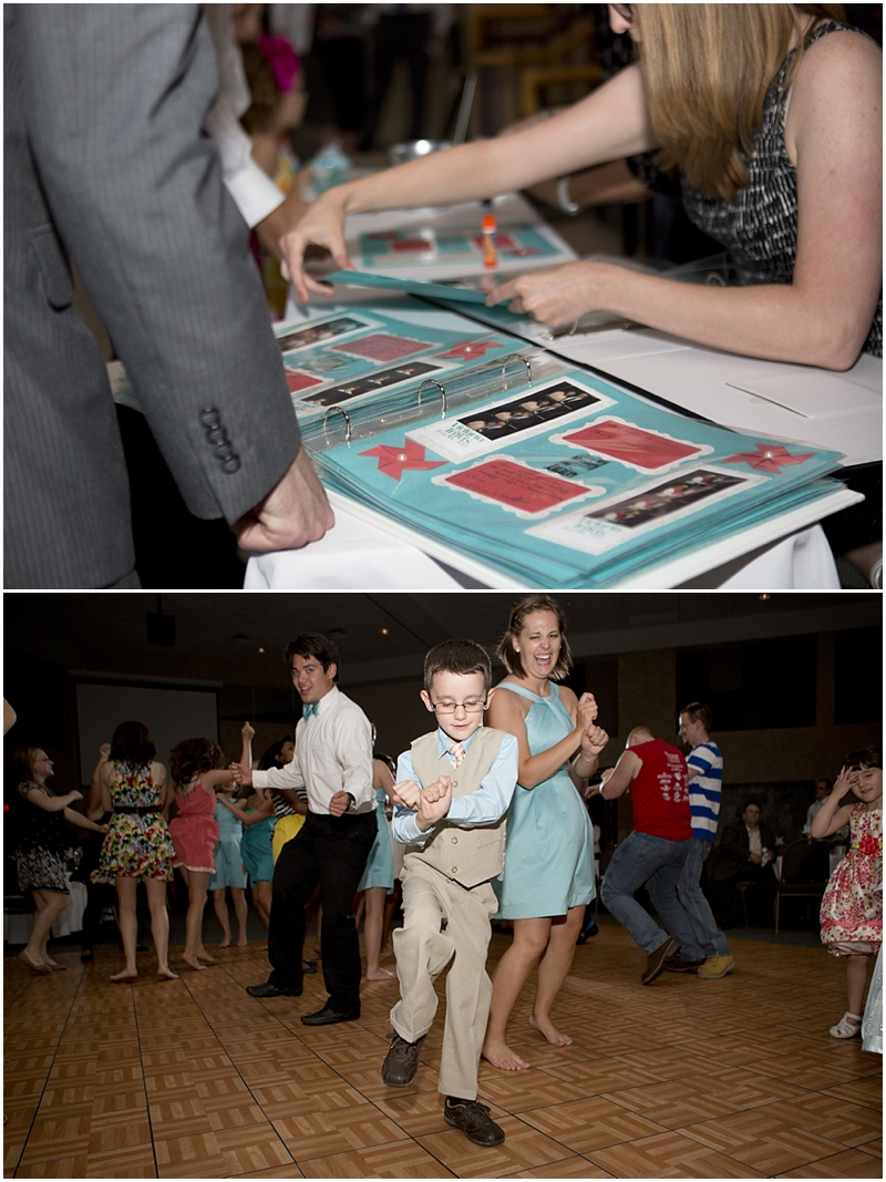 I loved these scrapbook pages they made for the photo booth pictures! Such a cute guestbook idea! And this kid, oh my, this kid was a dancing MACHINE!!! I wanted to take him home so bad!