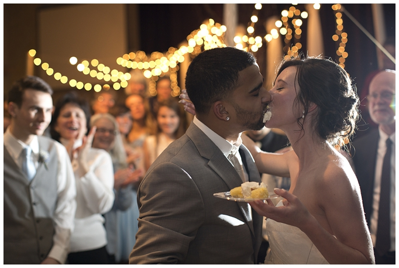 You might say this one is sweet in more ways than one... (I know, I know, but I couldn't pass up the pun!) But seriously, my favorite cake shot to date! I love the clapping and the lights and the cake everywhere, it's just so happy!
