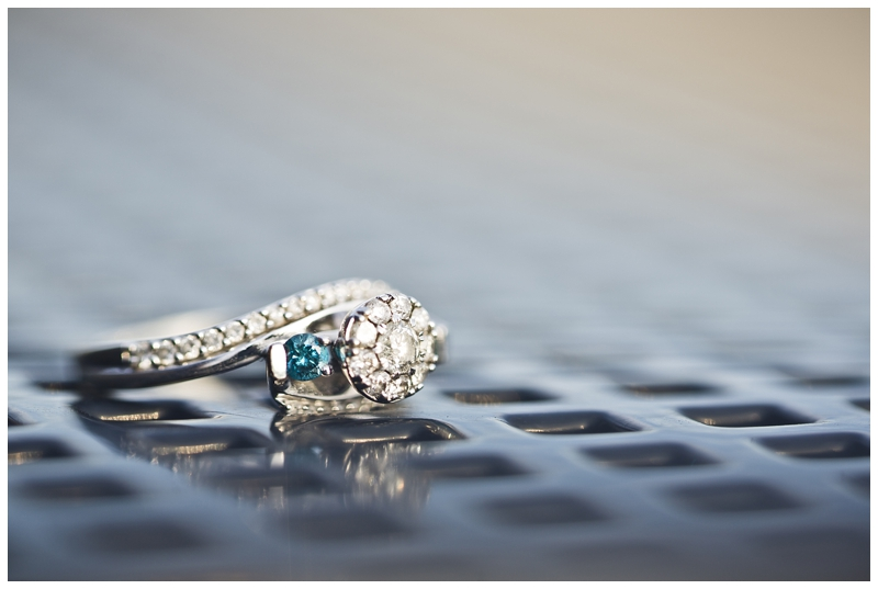 Love how unique Rachel's ring is!