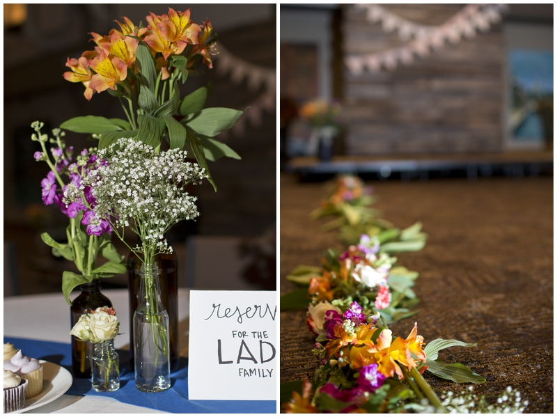 I loved all of the flowers, especially along the aisle!