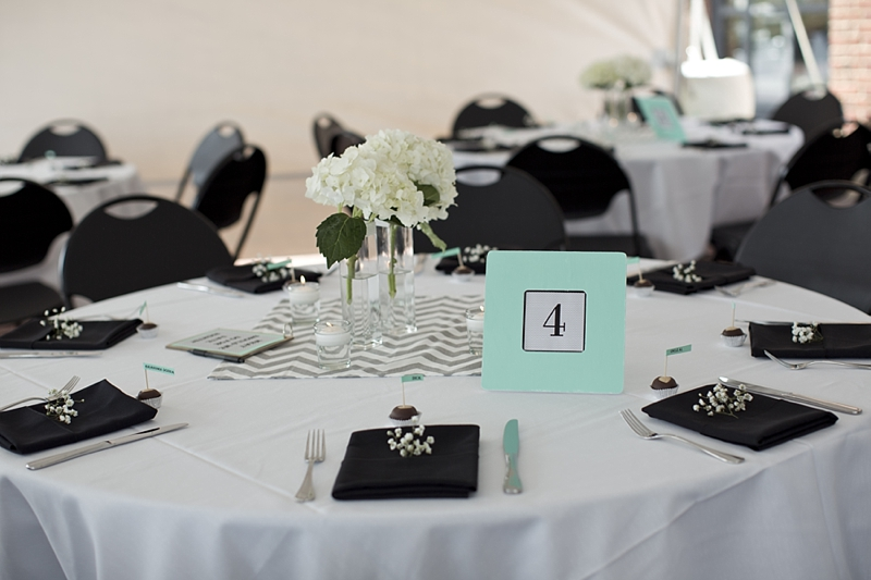Colorful table markers are also a great way to add interest to your tablescapes