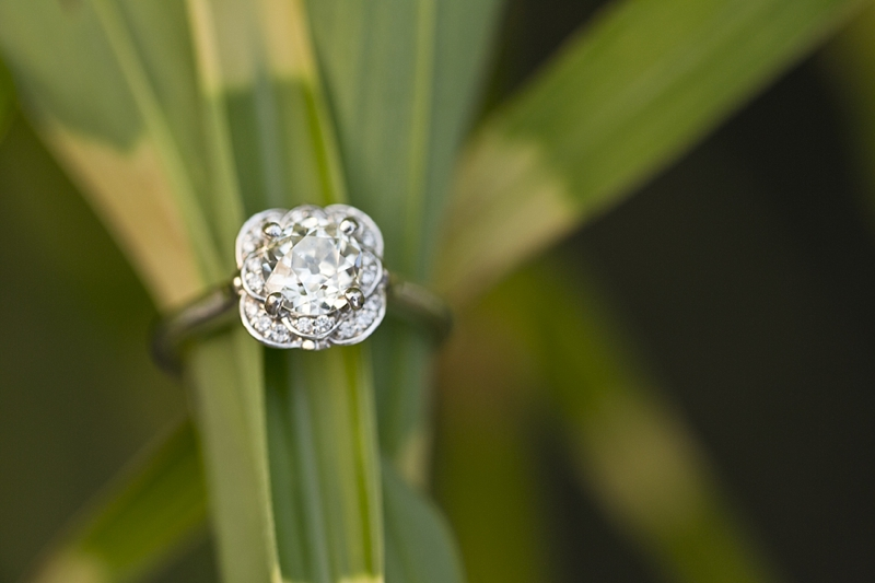 How beautiful is this vintage diamond in this setting?!?