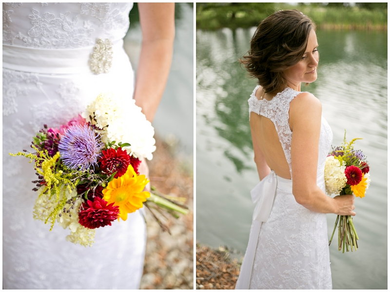 Love the flowers and the dress! That back is killer Grace!