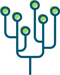 V3  –  This represents a technology tree. The circles at the top represent the fruit of the tree (bit coins)
