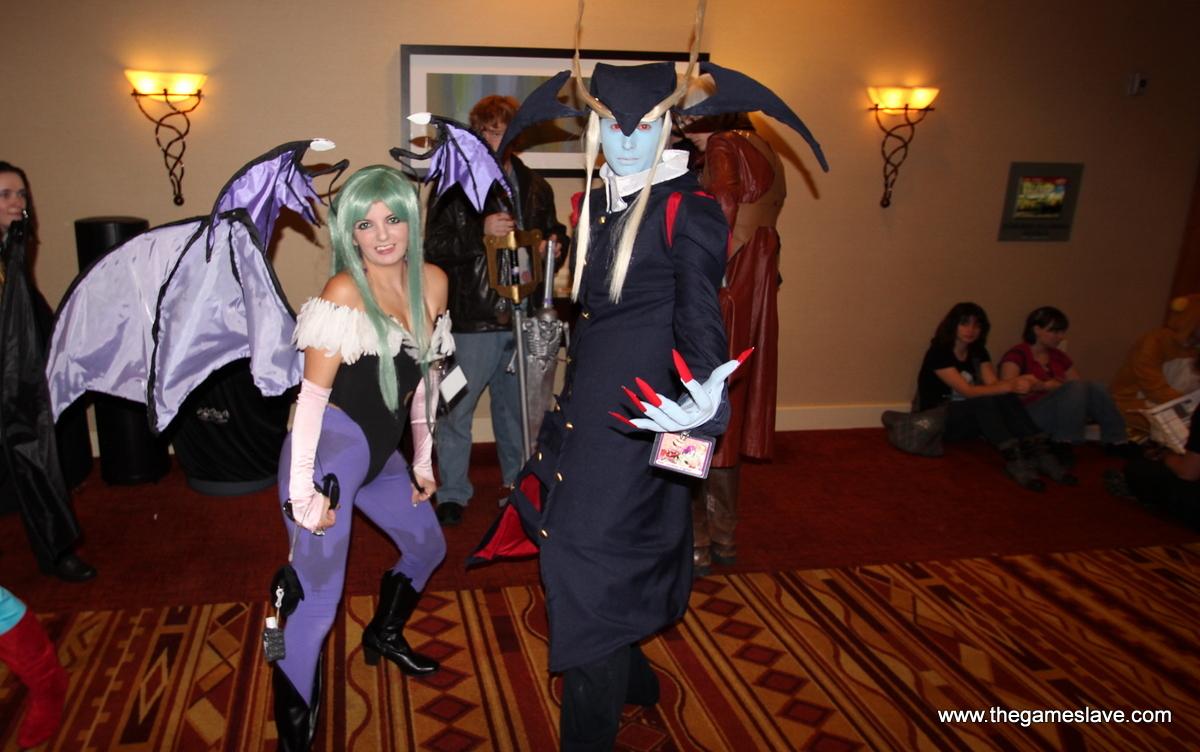 Morrigan and Jedah Dohma from Darkstalkers