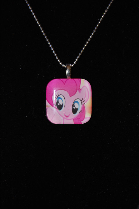 Pinkie Pie Glass Charm