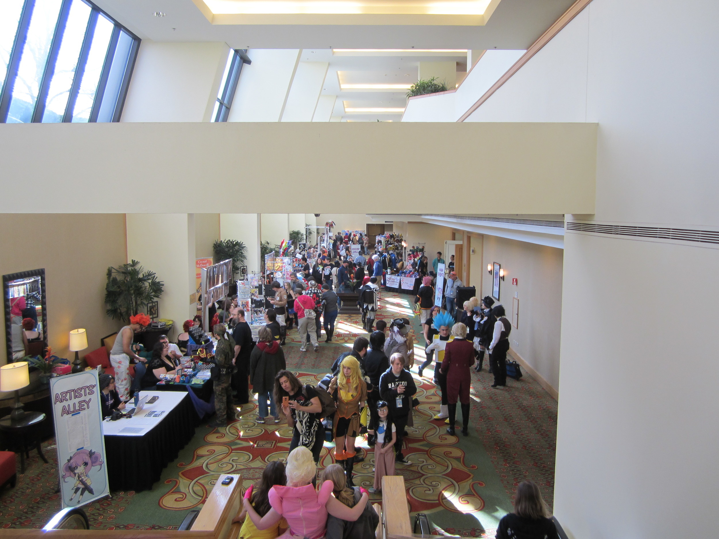 Artist alley and the convention floor.