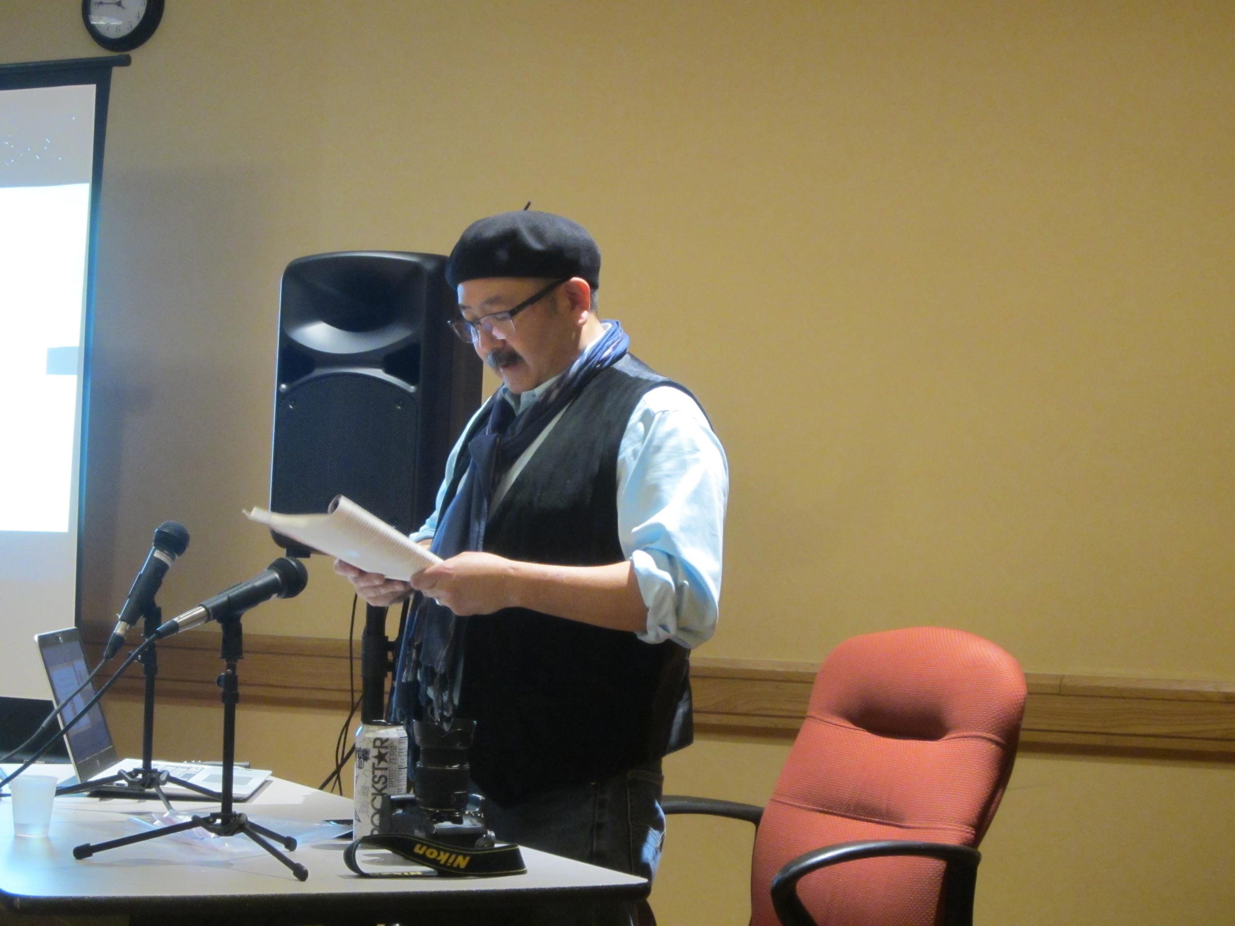 Gil Asakawa reading from his book  Being Japanese American .