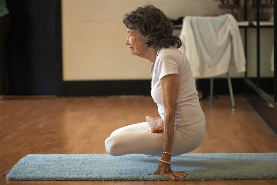 93 year old yoga teacher