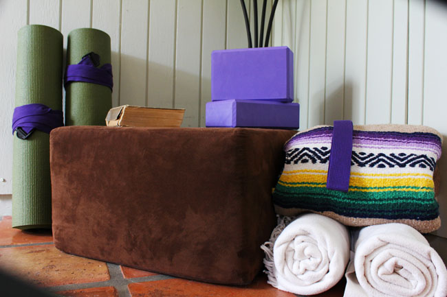 Essentials for a home yoga practice space