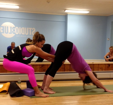 Adjustments post vinyasa flow/yoga nidra workshop