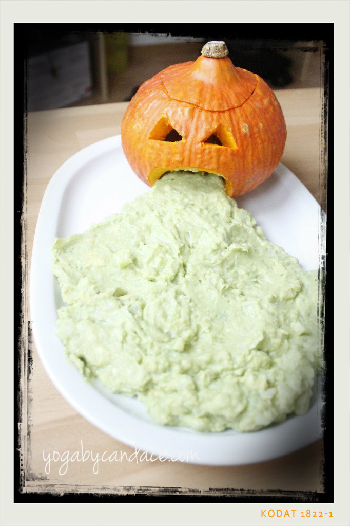 Guacamole I made for a Halloween party a few days ago