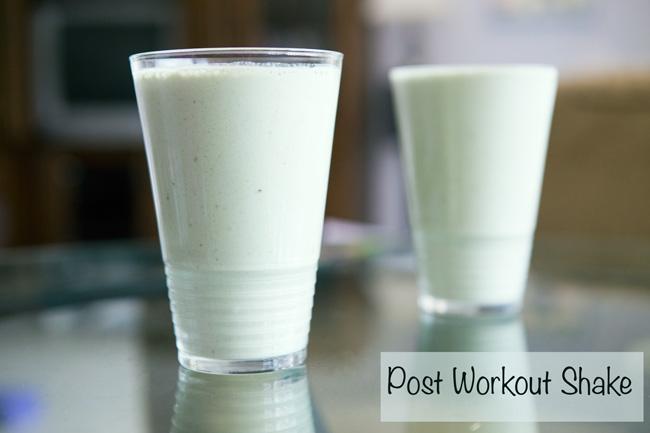 Post workout shake recipe- pin now, make later!