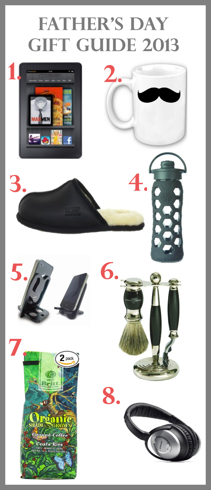 Father's Day Gift Guide 2013 - Pin it!
