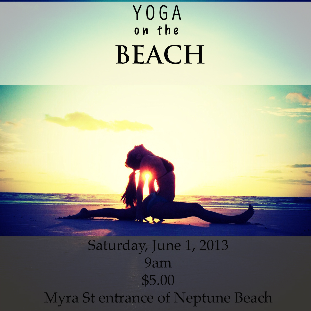Yoga on the Beach in Neptune Beach,, Florida