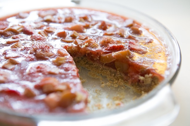 Pin it! Strawberry rhubarb pie!