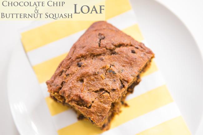 Chocolate chip butternut squash loaf recipe - pin it!