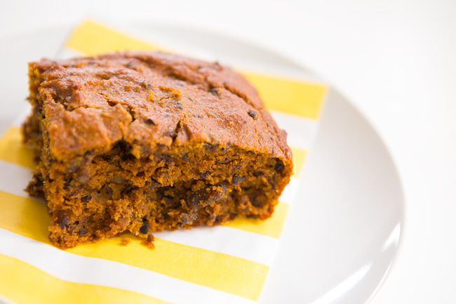 Moist, chewy center - chocolate chip butternut squash loaf