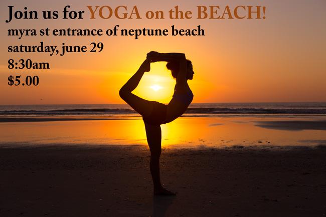 Yoga on the beach in Neptune Beach, Florida