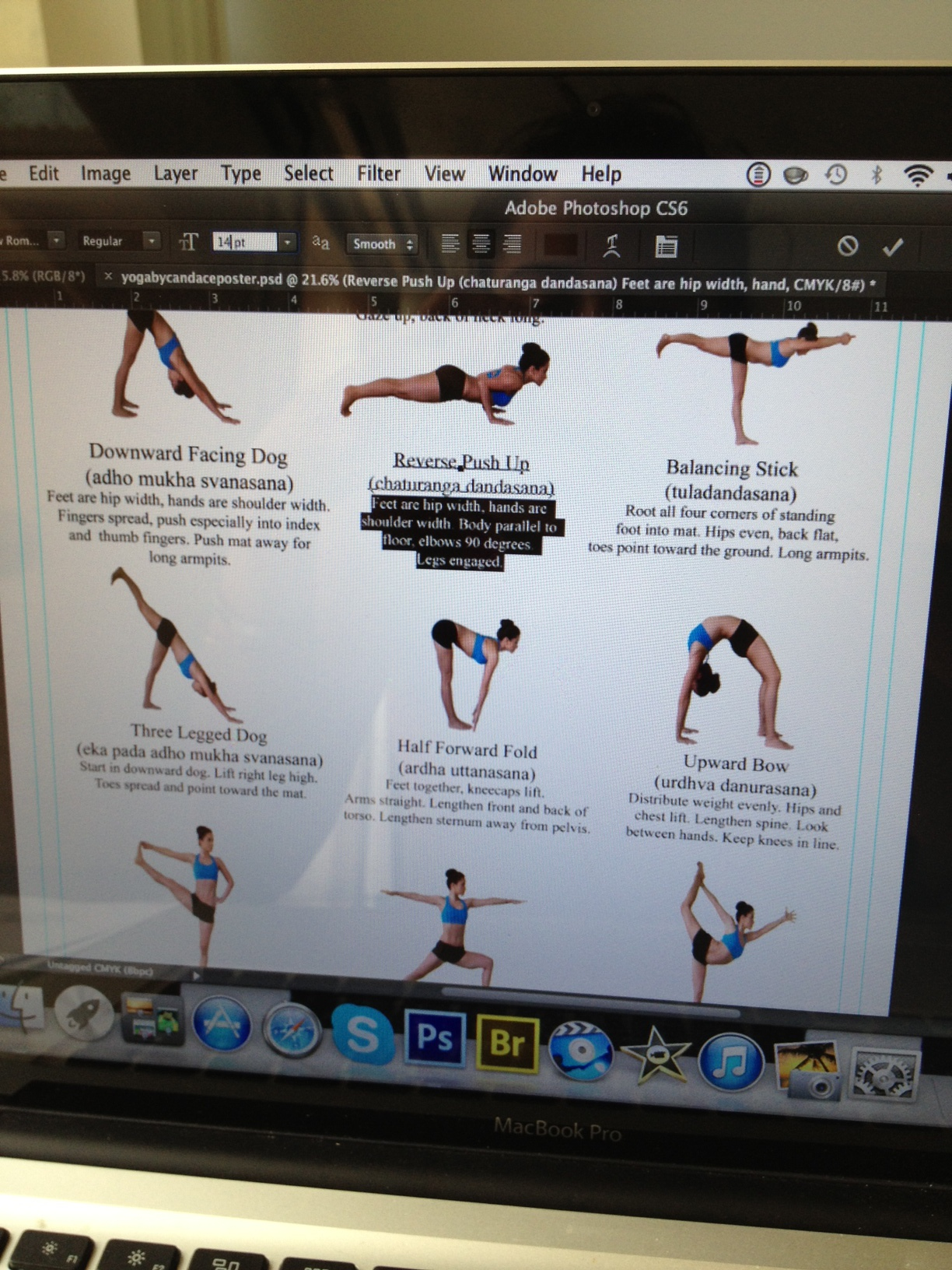 writing tips for each pose