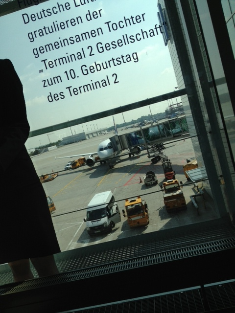 Waiting for our next flight