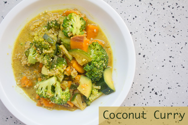 Pin it! Coconut curry recipe.