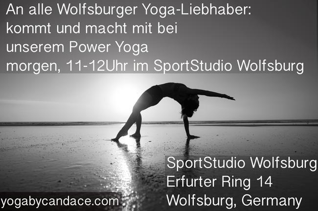 New yoga class in Wolfsburg, Germany