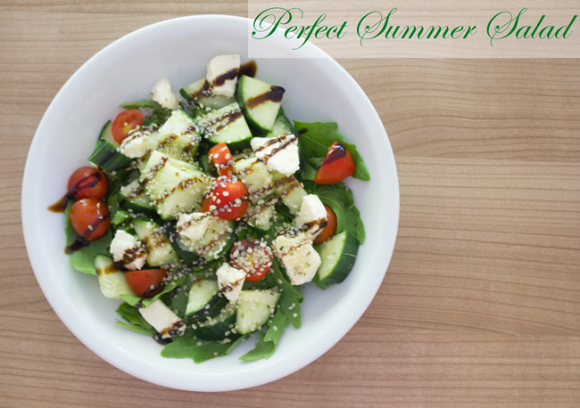 Pin it! An easy, delicious perfect summer salad recipe.