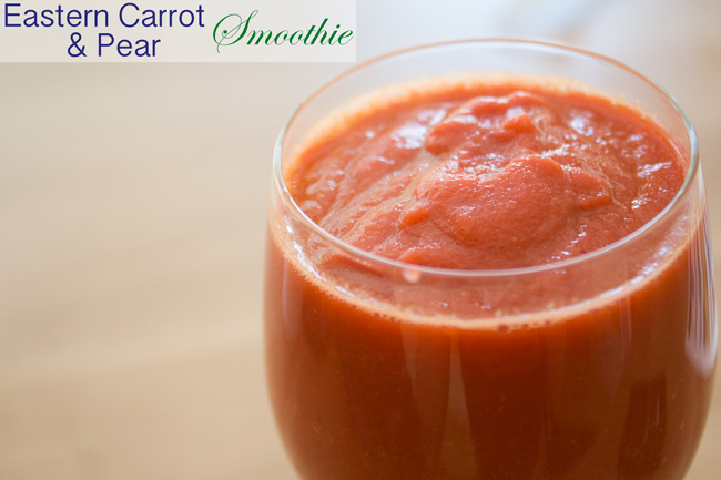 Pin it! Eastern carrot & pear smoothie