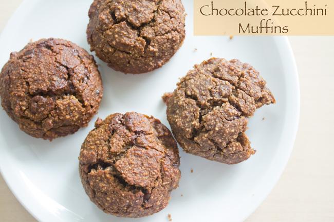 Pin it! Chocolate zucchini muffin recipe!