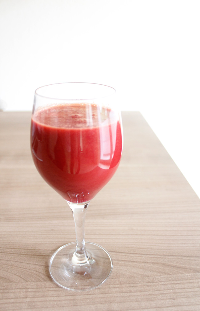 Beet and ginger juice