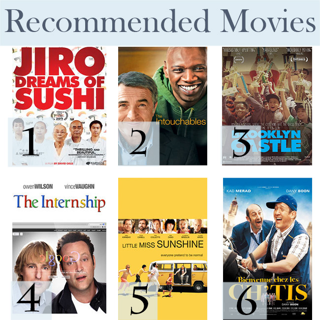 Pin it! Recommended movies for a rainy day.