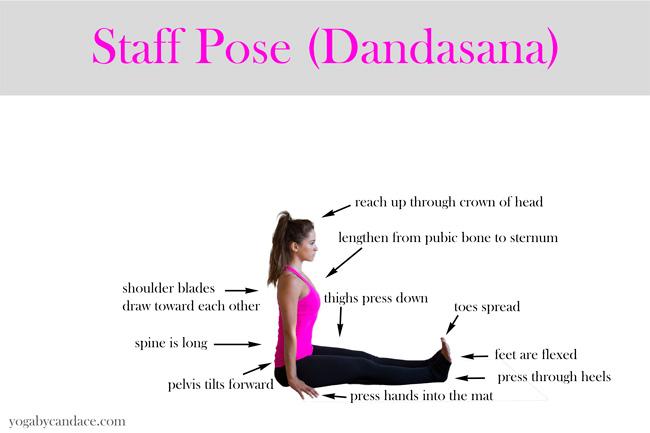 Pin it! How to do dandasana - staff pose
