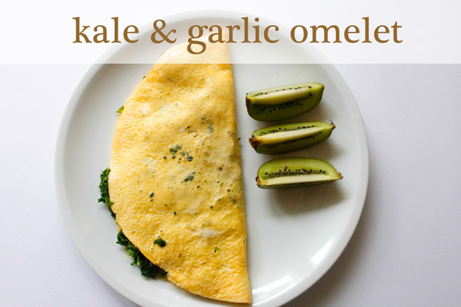 Pin it! Kale and garlic omelet