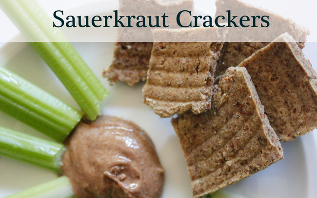 Pin it! Raw-food quality sauerkraut crackers