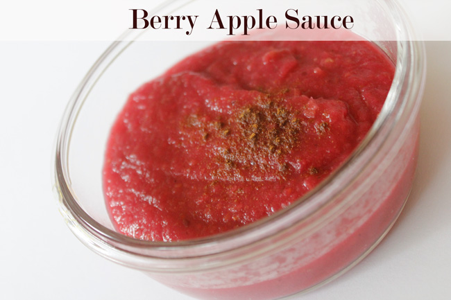 Pin it! Easy homemade berry applesauce