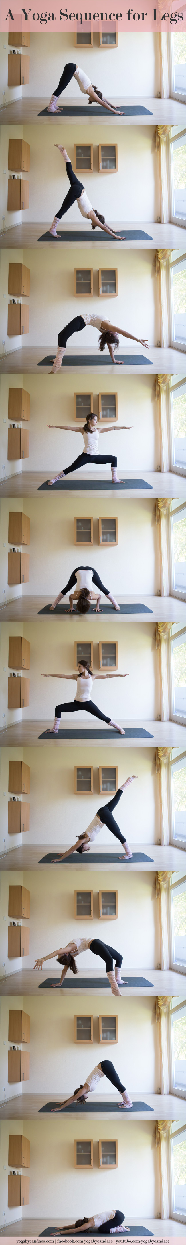 Pin it! A yoga sequence for legs you can do right from home.