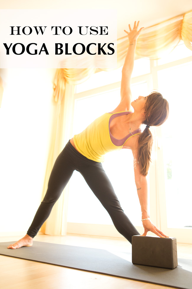 Pin it! How to use yoga blocks.