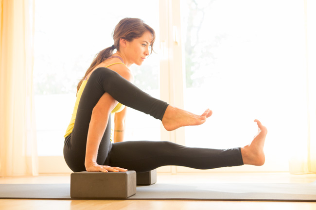 Yoga blocks for more advanced poses.