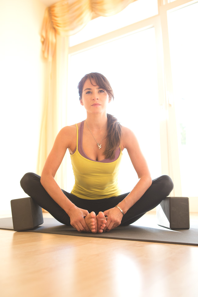 Blocks with seated poses