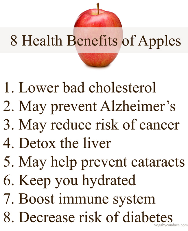 Pin it! Health benefits of apples.
