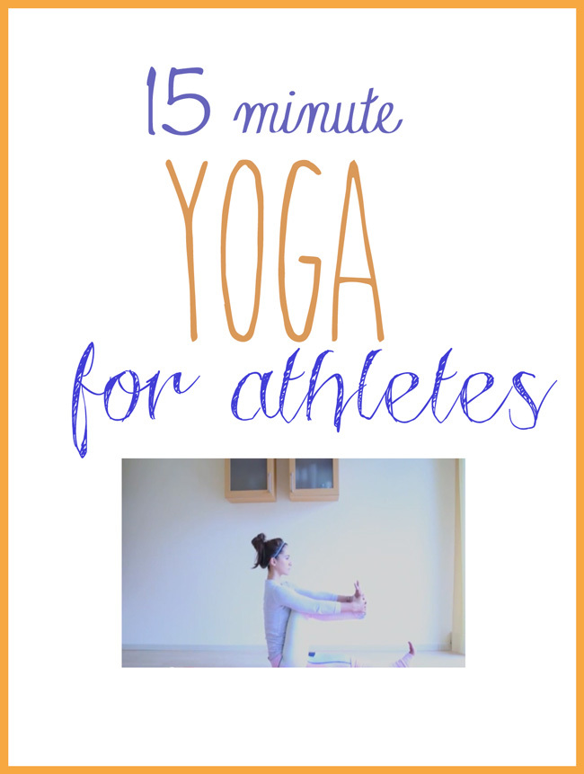Pin it! 15 minute yoga for athletes